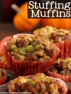 Stuffing Muffins (recipe) - On Sugar Mountain