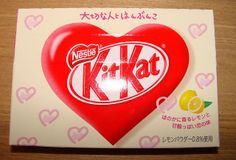 Lemon Valentine's Day Kit Kat - Limited Edition - Japan by kalvin1974, via Flickr