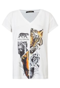 Camiseta Lança Perfume Tiger Off-White