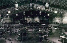 Interior, Armadillo World Headquarters, Austin.  I never remember this many chairs set out.  Mostly it was floor seating.