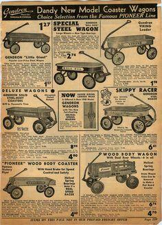 1939 Advertisement Coaster Wagon