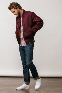 Alpha Industries MA-1 Jacket: This reversible bomber is a classic -- every guy needs one in his closet.
