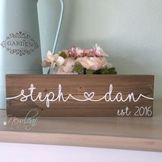 Custom Name Sign | Wedding Gift | Wedding Gift Ideas | Personalized Name Sign | Gift For Couples | Anniversary Gift https://www.etsy.com/listing/469338899/custom-name-sign-personalized-name-sign