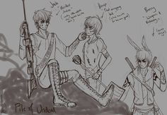 Jack Frost, Hiccup, and Bunnymund.