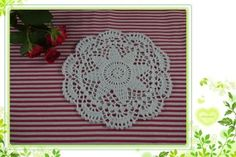 Crochet Doilies pattern Coasters white doily Vase pad Plate mat Napkin Tablecloths Multi-color custom