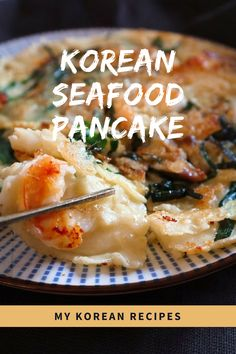 It's Korean seafood  pancake! When it comes to rainy  most of Koreans say  Let's have this with  Makgeolli witch is Korean traditional drinks.