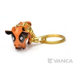 GENUINE 3D LEATHER COW KEYCHAIN (CHINESE ZODIAC) MADE BY SKILLFUL CRAFTSMEN OF VANCA CRAFT IN JAPAN. #handmade #keyfob #gift #unique #art #design #cute
