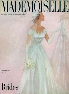 Premium Giclee Print: Mademoiselle Magazine Photographs Poster by Somoroff : Vintage Wedding Photos, Vintage Bridal, Vintage Weddings, Country Weddings, Lace Weddings, 1960s Wedding Dresses, Bridal Dresses, Bridesmaid Dresses, Mademoiselle Magazine