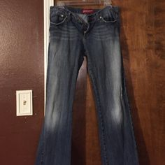 Jeans Distress jeans. Size 11 fit more like a 9. Super flattering on. Jeans Boot Cut