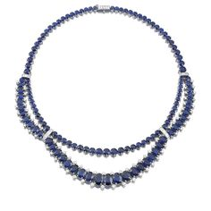 Sapphire and Diamond necklace, Cartier | lot | Sotheby's