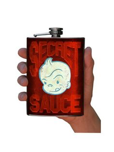 Flask - - Secret Sauce - Stainless Steel by Trixie and Milo Oldest Whiskey, Inked Shop, House Party, Barware, Stainless Steel, Make It Yourself, Handmade Gifts, Etsy, Flasks