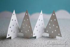 Paper Winter Trees Garland