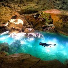 Kanlaob river canyon. Cebu, Philippines