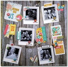 """Too cute!  Love the way the photos and embellishments look like they are hanging on the """"clothesline"""".simple stories vintage bliss"""