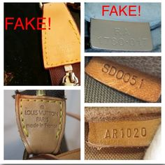 408d7f4e76c4 FYI for .just to show some ways to tell if a Louis Vuitton is fake or real  Louis Vuitton Bags