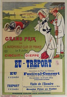 Original+vintage+poster+Grand+Prix+de+l'ACF+Automobile+Club+de+France+1907+-+MICH