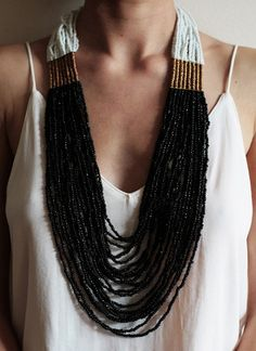 gorgeous beaded necklace // soko supports artisans in emerging economies, using natural and upcycled materials.
