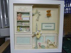 Miniature Baby Scene Dollhouse ♡ ♡ By Cristina Crisostomo Miniature Rooms, Miniature Crafts, Polymer Clay Miniatures, Dollhouse Miniatures, Dollhouse Ideas, Kit Bebe, Ribba Frame, Ikea, Barbie Doll House
