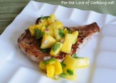 Blackened Pork Chops with Pineapple-Mango Salsa