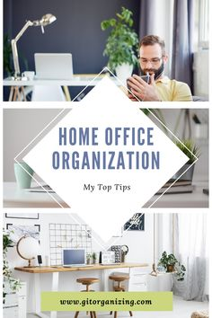 The home office needs to look good, feel good, and be somewhere you want to sit down and work in. If you don't have a separate room for your home office, you will need to fit it into and around your home. Sometimes, that is a corner of the kitchen, the bedroom, the dining table, or the couch. How do you even begin the organization of your home office when it has to be split up between rooms? Office Organization Tips, Organizing Tips, Design Your Home, Separate, Small Spaces, Gallery Wall, Dining Table, Corner, Rooms