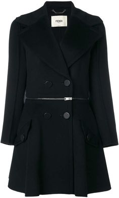 Fendi zip waist detail coat