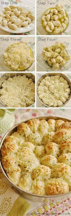 This but stuff each one with a cube of cheese, and just use fridge dough and in a casserole dish.