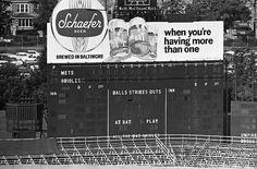 memorial stadium baltimore   Scoreboard, Memorial Stadium, Baltimore, MD - 1969 World Series