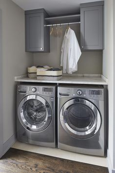"""See our website for additional relevant information on """"laundry room storage diy small"""". It is a superb location to read more. Laundry Nook, Garage Laundry, Modern Laundry Rooms, Laundry Room Layouts, Laundry Room Remodel, Laundry Room Cabinets, Laundry Decor, Laundry Room Storage, Laundry Room Design"""