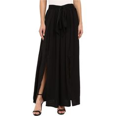 B Collection by Bobeau Rosemary High Slit Maxi (Black) Women's Skirt ($35) ❤ liked on Polyvore featuring skirts, black, stretch maxi skirt, long straight skirts, floor length maxi skirt, stretchy maxi skirt and long skirts