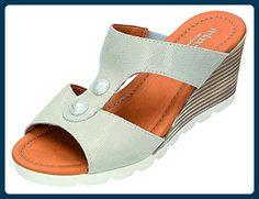 Relaxshoe Damen Sandalen-Pantolette D.Pantolette in grau, Größe 38.0, - Clogs für frauen (*Partner-Link)
