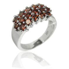 Stříbrný dámský prsten Silvego s pravým Granátem RSG36019 velikost 50