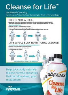 Nutritional Cleansing with Isagenix is a healthy way to achieve a leaner body