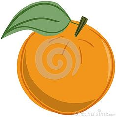 Isolated image representing an orange. Anidea that can be used for projects around this fruit.
