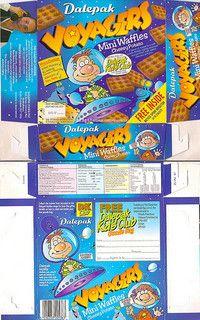 pills bury boxes packaging | 1998 Dalepak Voyagers Mini Waffles / Cheesy Potato Box UK