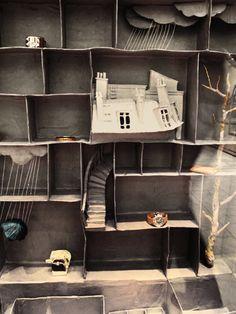 Elsa Drayfarges Miniaturwelten aus Pappmaché... via Designchen