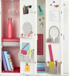 Locker Organization Four Different Ways Container Stories Magnetic Locker Shelf - House of Ara