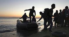 Débarquement de migrants sur une plage de l'île grecque de Kos. Photo © Keystone/Letemps.ch