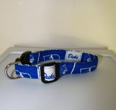 Handmade Pet Collar or leash made from Duke Blue devils Cotton fabric on Etsy, $9.00
