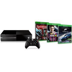 Console Xbox One 500GB Microsoft + Forza 6 (via download) + Fifa 14 e Killer Instinct