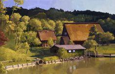 landscape for Digital Artist by GBWhisper