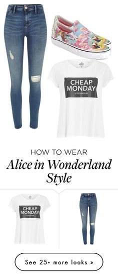 """""""Untitled #838"""" by kisabelladiamond on Polyvore featuring River Island, Vans and Cheap Monday"""