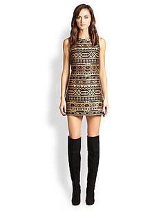 Alice   Olivia Wilcox Jacquard Mini Dress