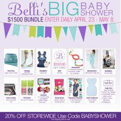 I just entered Belli's BIG Baby Shower $1500 Giveaway. You should too!