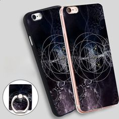 We are stardust Phone Ring Holder Soft TPU Silicone Case Cover for iPhone 4 4S 5C 5 SE 5S 6 6S 7 Plus