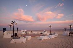 BLUSH PINK BEACH WEDDING- Gorgeous set ups during a lovely sunset