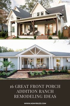 16 Great Front Porch Addition Ranch Remodeling Ideas - HomyBuzz