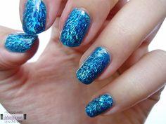 Maria's nail: 184. H Glitter Nail Polish - Blue http://mariasnail.blogspot.nl/2013/07/184-h-glitter-nail-polish-blue.html