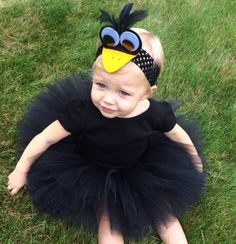 Items similar to Halloween Delivery Guaranteed! Black Crow Costume, Black Tutu Costume, Black Bird Costume, Birdie Costume, Infant Toddler Halloween Costume on Etsy Crow Costume, Parrot Costume, Hallowen Costume, Tutu Costumes, Costume Ideas, Flamingo Costume, Halloween Bebes, Toddler Halloween Costumes, Holidays Halloween