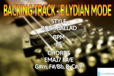 Backing Track E Lydian mode