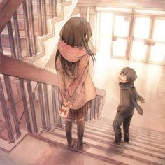 anime, couple, love, so sweet